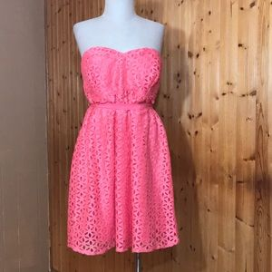 NWT Motherhood Maternity Coral Lace Sweet Dress